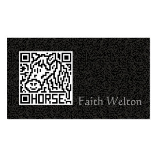 QR Code the Horse Double-Sided Standard Business Cards (Pack Of 100)