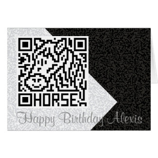 QR Code the Horse Greeting Card