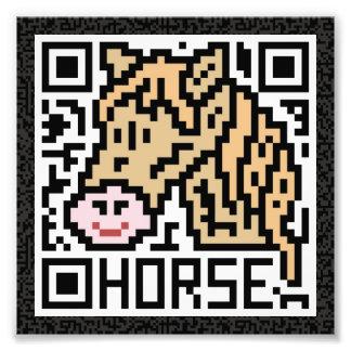 QR Code the Horse Photo Print
