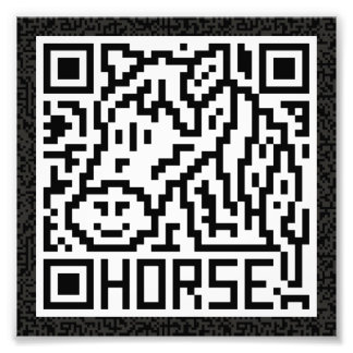 QR Code the Horse Photographic Print