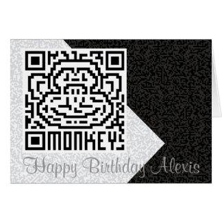 QR Code the Monkey Greeting Card