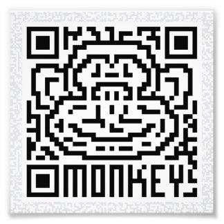 QR Code the Monkey Photo Art