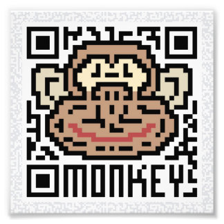 QR Code the Monkey Photograph
