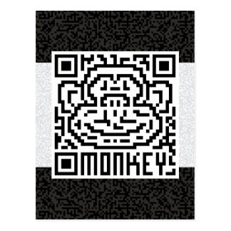 QR Code the Monkey Postcard