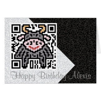 QR Code the Ox Greeting Card
