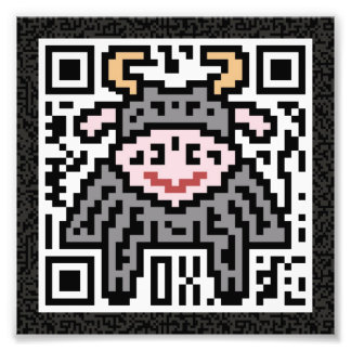 QR Code the Ox Photograph