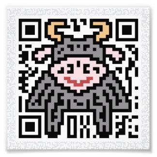 QR Code the Ox Photo Art