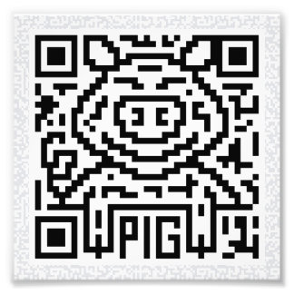 QR Code the Pig Photographic Print