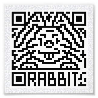 QR Code the Rabbit Photograph
