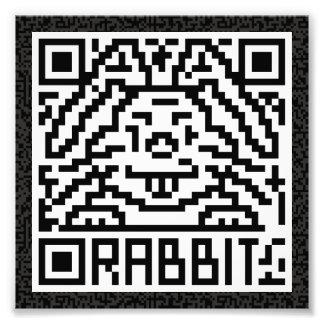 QR Code the Rabbit Art Photo
