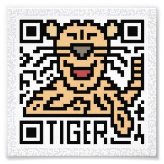 QR Code the Tiger Photograph