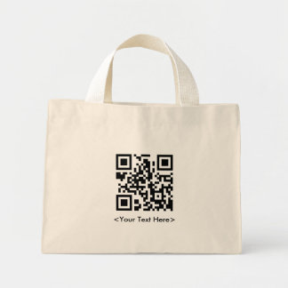 QR Code Tote Bag With Text
