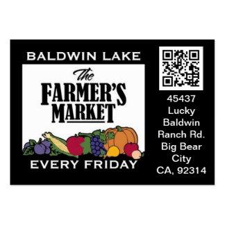 QR Code Traceable Shelftalker for Farmer's Market Pack Of Chubby Business Cards