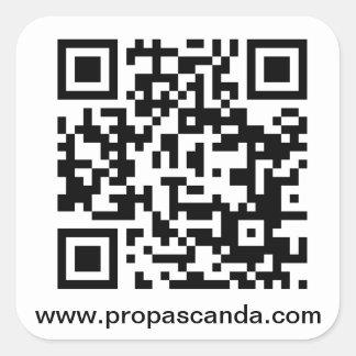 QR Code URL Sticker