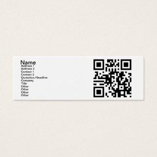 QR Code - Yes, I am Single! Mini Business Card