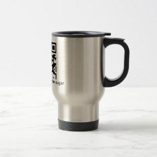 QR Coffee, black, one sugar Coffee Mug
