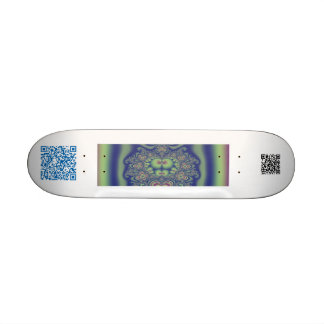qr fractal board custom skate board