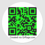 QrRage.com - Your Custom QR Code Round Stickers