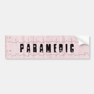 QRS EKG EMS PARAMEDIC BUMPER STICKERS