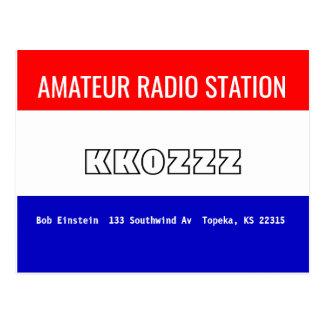 QSL Card Amateur Radio Station Postcard