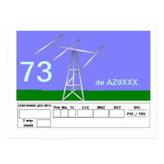 QSL Card Post Card