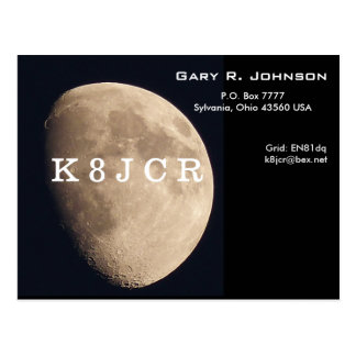 QSL Card with a beautiful moon Postcard