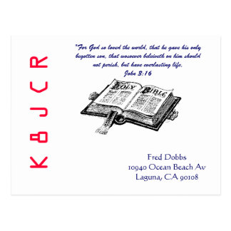 QSL Card with Bible Postcard
