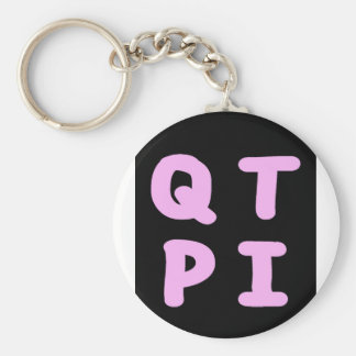 QTPI BASIC ROUND BUTTON KEY RING