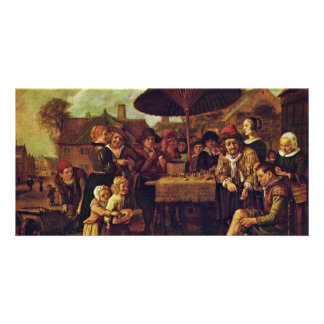 Quack On The Market By Victors Jan Picture Card