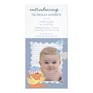 Quack Quack Baby Birth Announcement 01 Personalized Photo Card
