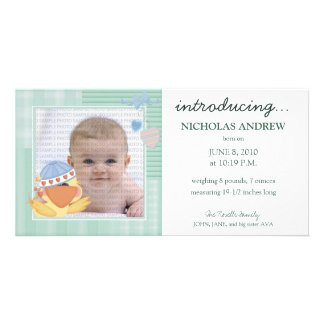 Quack Quack Baby Birth Announcement ::: 04 Picture Card