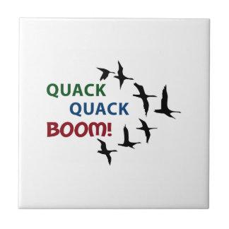 QUACK QUACK BOOM SMALL SQUARE TILE