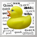 Quack Quack Duckie Poster