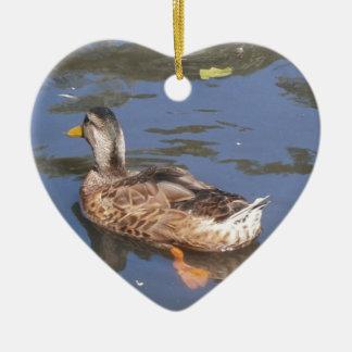 Quackers on the Bill Christmas Ornament