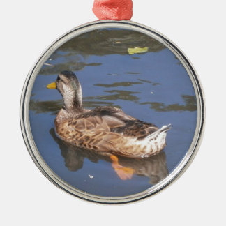 Quackers on the Bill Silver-Colored Round Decoration