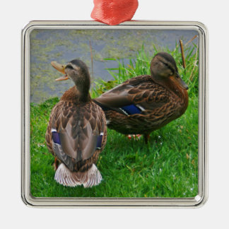 Quacking Duck Christmas Ornament