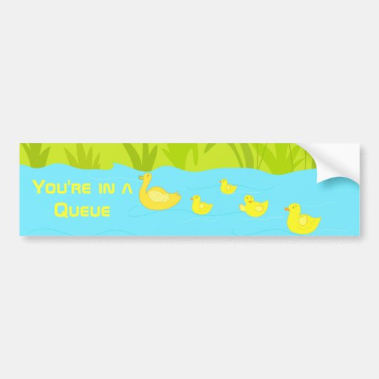 Quacking ducks bumper sticker