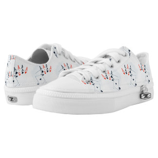 Quad_Aces_Lowtop_Printed_Unisex_Zipz_Sneakers. Printed Shoes