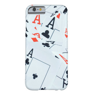 Quad Aces Poker Cards Pattern, Barely There iPhone 6 Case