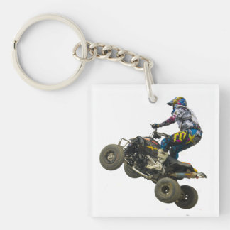 quad bike acrylic key chain