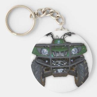 quad bike - atv basic round button key ring
