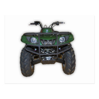 quad bike - atv postcard