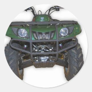 quad bike - atv round sticker