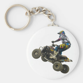 quad bike basic round button key ring