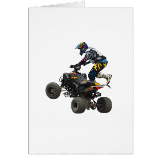 quad bike greeting card
