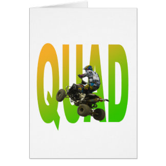 quad bike greeting card