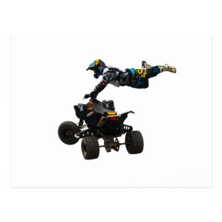 quad bike postcard