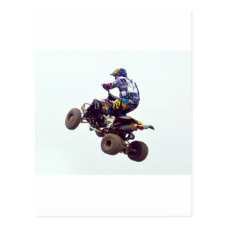 quad bike postcard