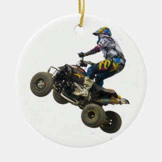 quad bike round ceramic decoration