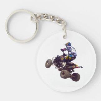 quad bike Single-Sided round acrylic key ring